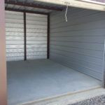 All-steel storage unit interior
